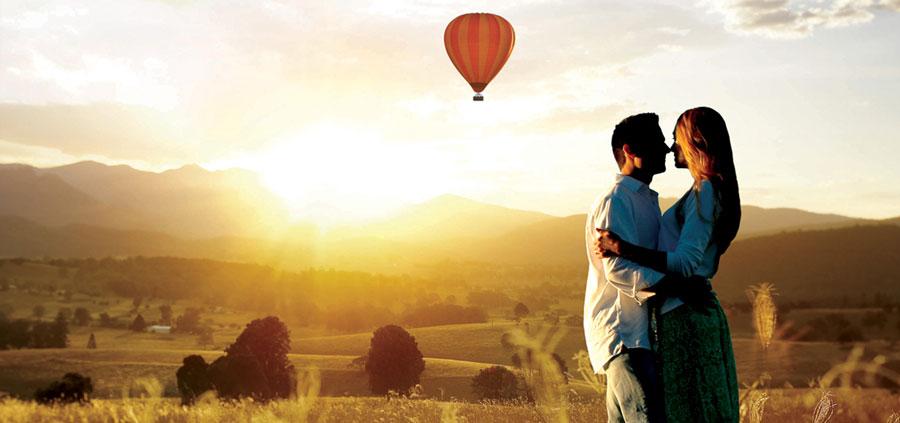 Самое романтичное свидание - прогулка на воздушном шаре